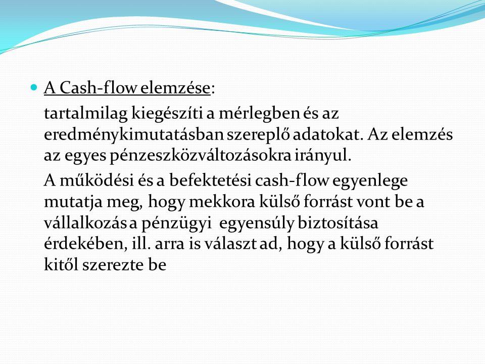 A Cash-flow elemzése: