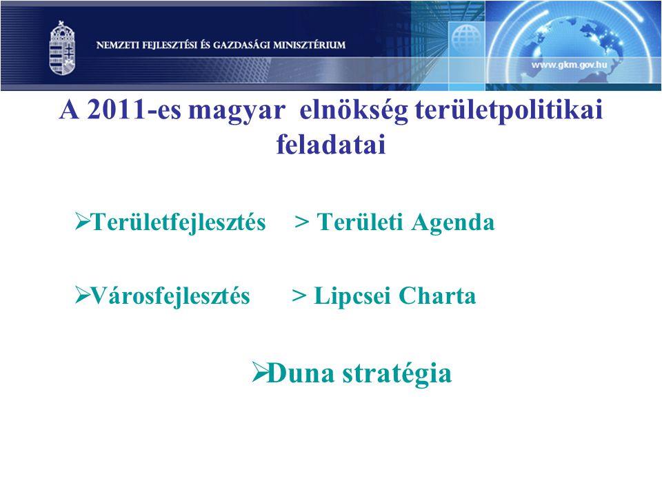 A 2011-es magyar elnökség területpolitikai feladatai