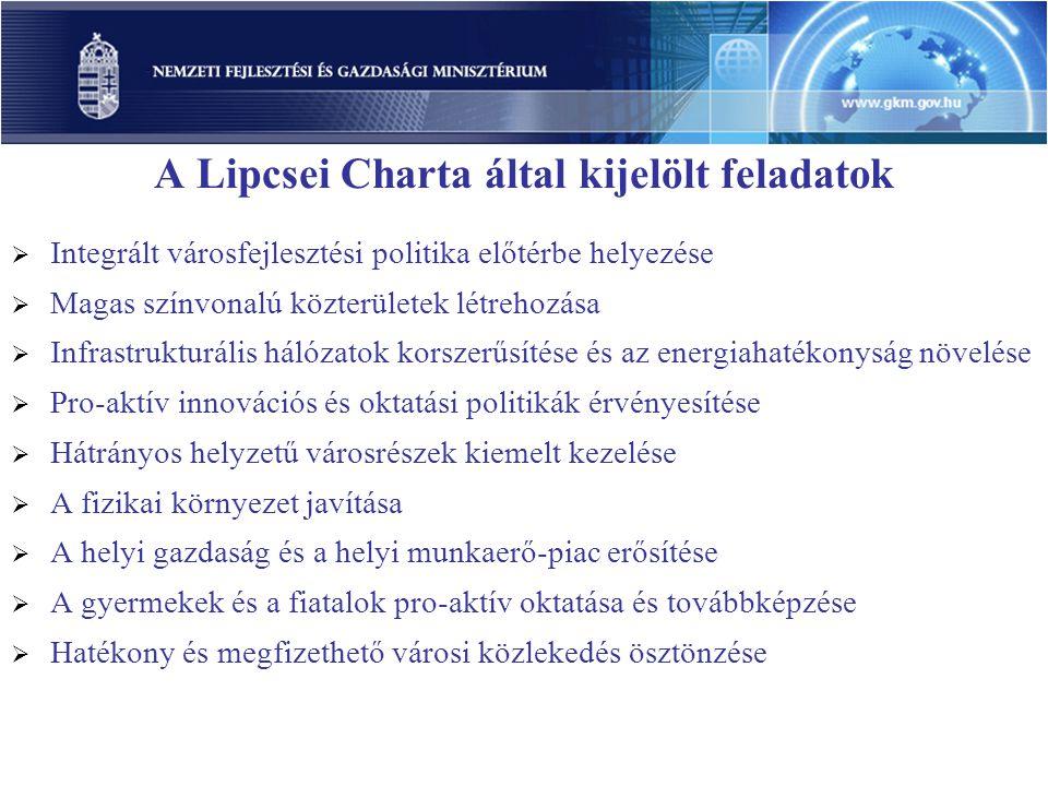 A Lipcsei Charta által kijelölt feladatok