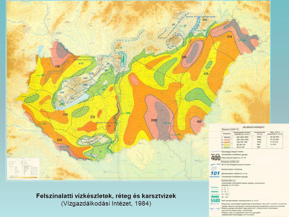 Felszínalatti vízkészletek, réteg és karsztvizek (Vízgazdálkodási Intézet, 1984)