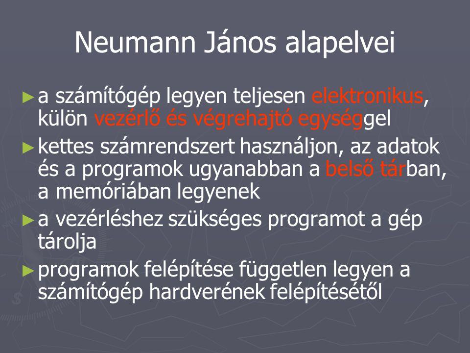 Neumann János alapelvei