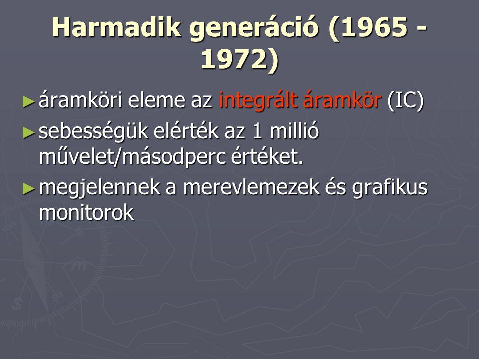 Harmadik generáció (1965 - 1972)