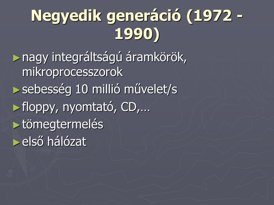 Negyedik generáció (1972 - 1990)