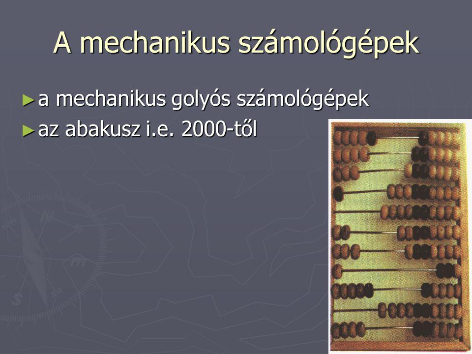A mechanikus számológépek
