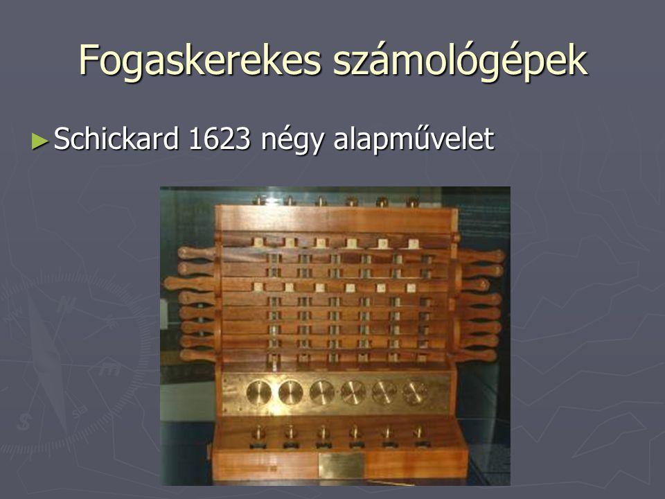 Fogaskerekes számológépek