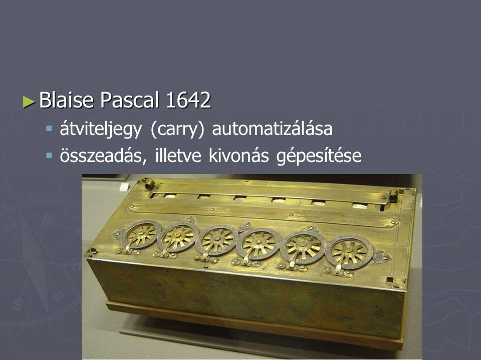 Blaise Pascal 1642 átviteljegy (carry) automatizálása