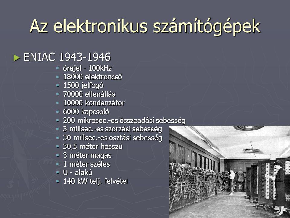 Az elektronikus számítógépek