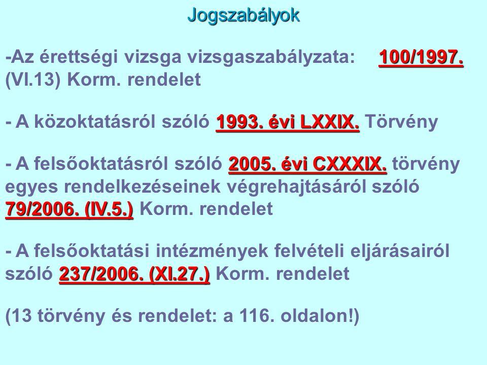 - A közoktatásról szóló 1993. évi LXXIX. Törvény