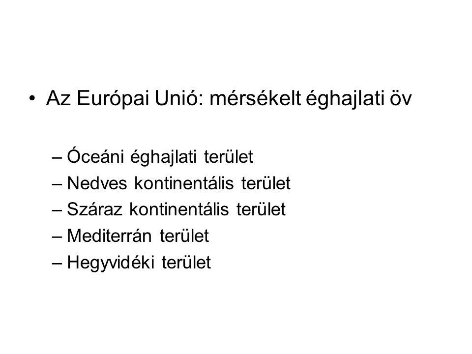 Az Európai Unió: mérsékelt éghajlati öv