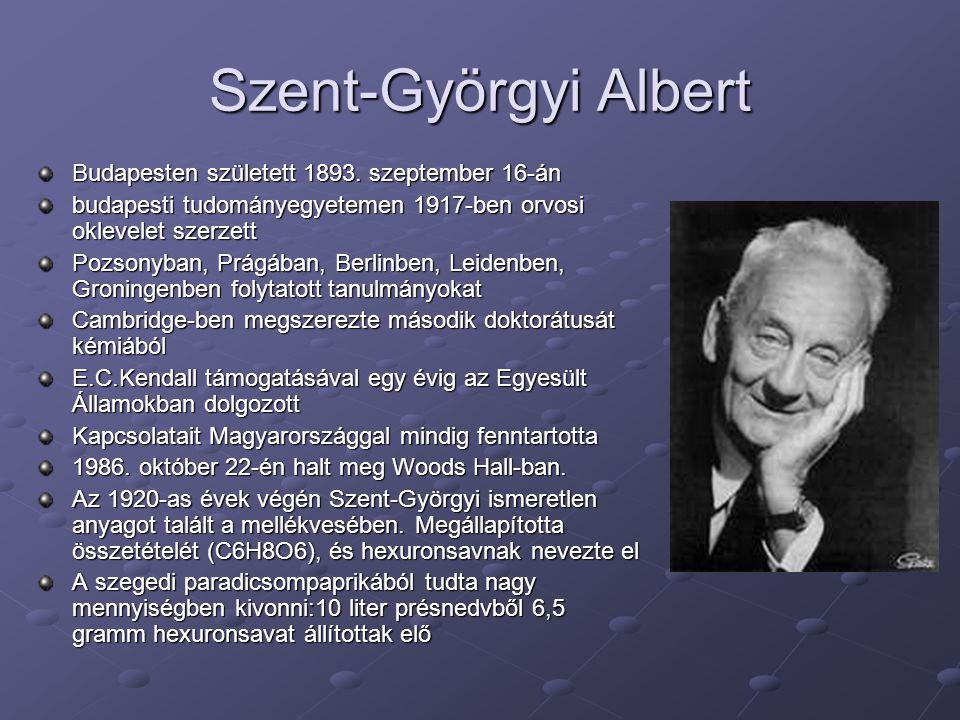 Szent-Györgyi Albert Budapesten született 1893. szeptember 16-án