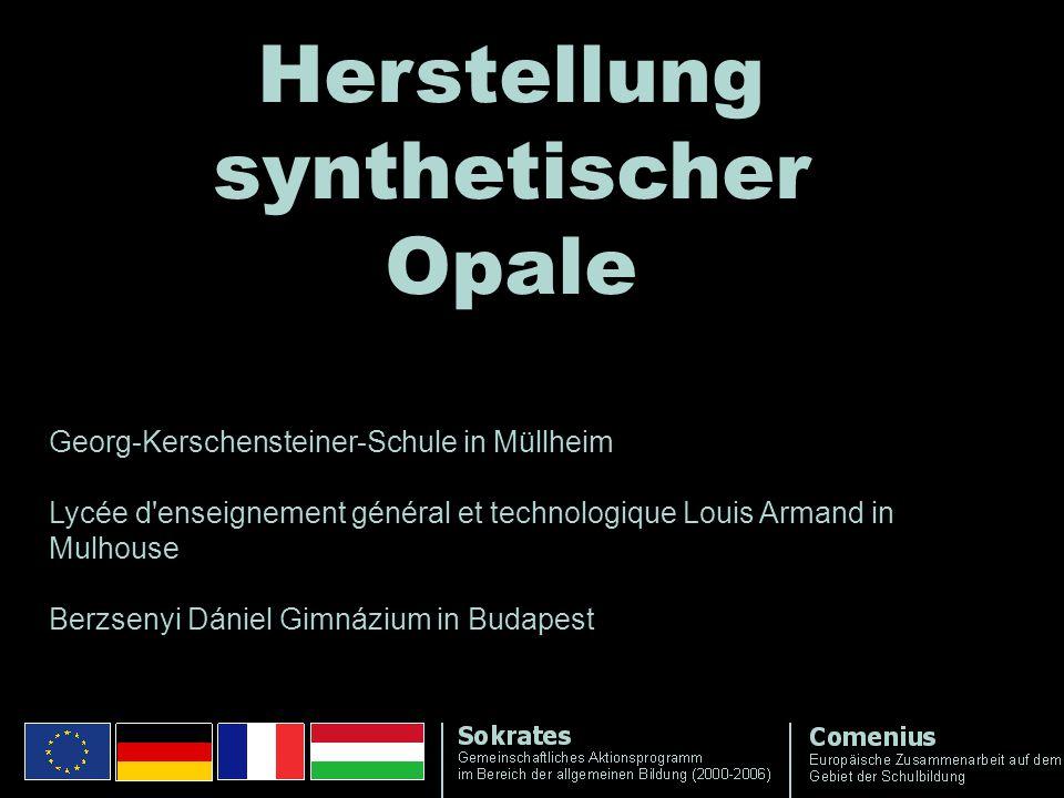 Herstellung synthetischer Opale