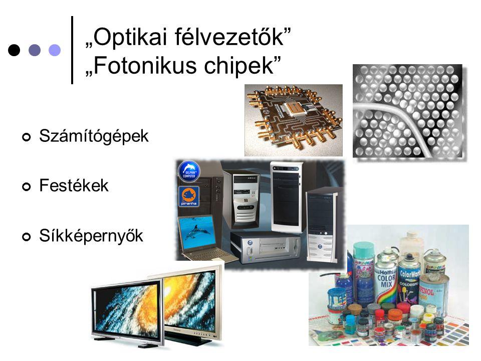"""""""Optikai félvezetők """"Fotonikus chipek"""