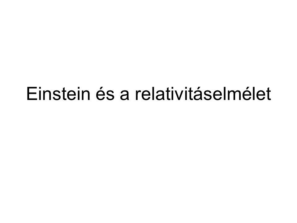 Einstein és a relativitáselmélet