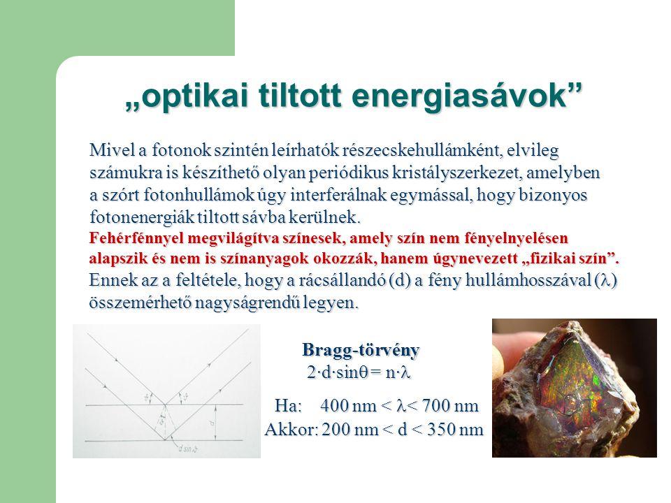 """""""optikai tiltott energiasávok"""