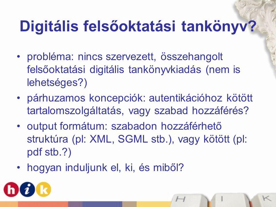 Digitális felsőoktatási tankönyv