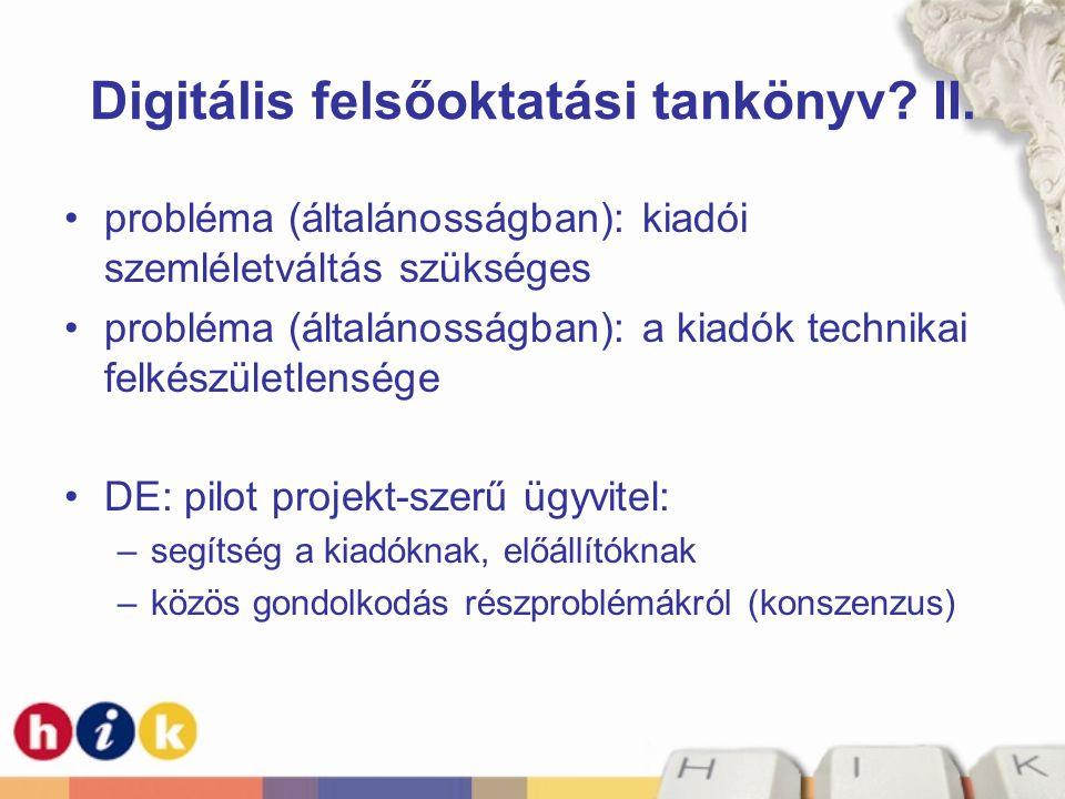 Digitális felsőoktatási tankönyv II.