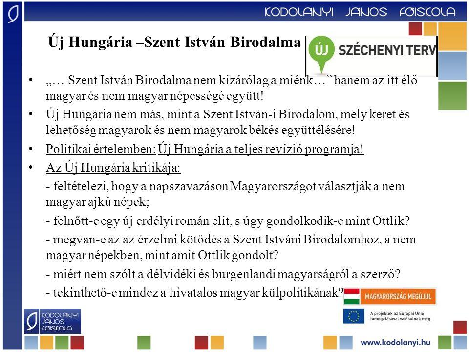 Új Hungária –Szent István Birodalma