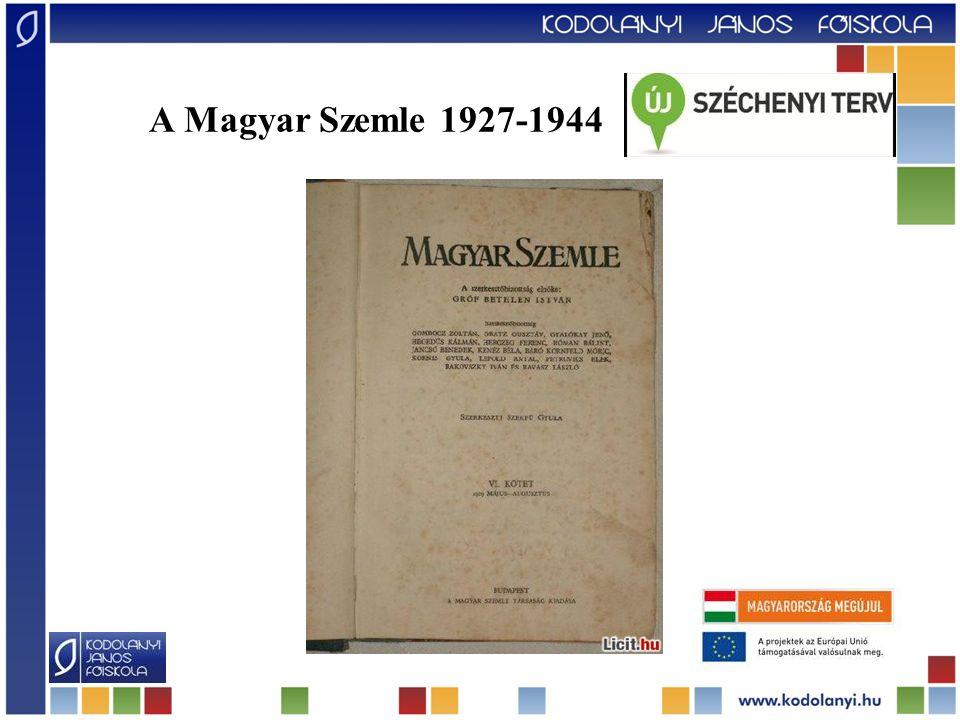 A Magyar Szemle 1927-1944