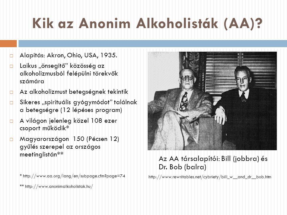 Kik az Anonim Alkoholisták (AA)
