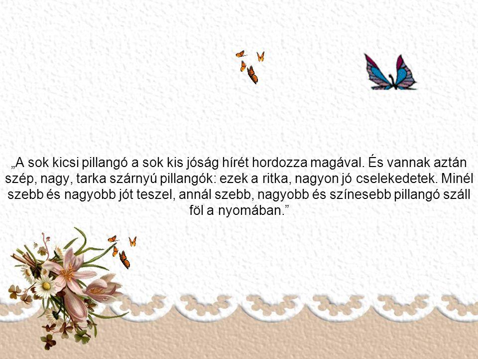 """""""A sok kicsi pillangó a sok kis jóság hírét hordozza magával"""