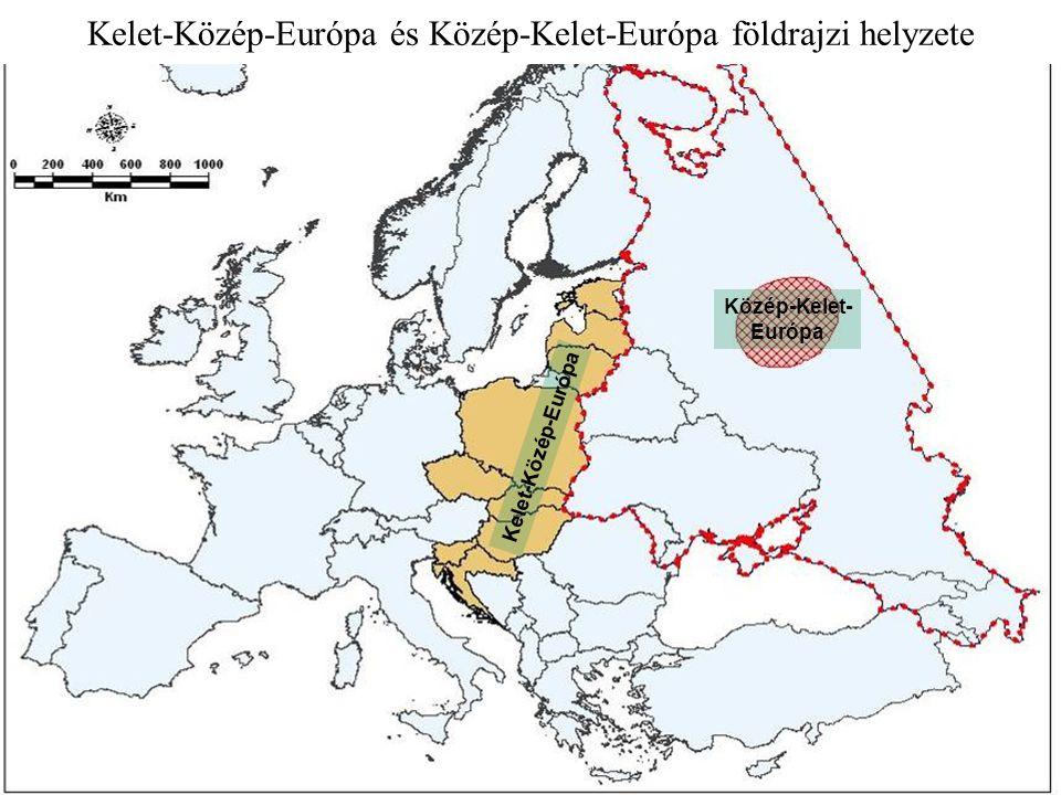Kelet-Közép-Európa és Közép-Kelet-Európa földrajzi helyzete