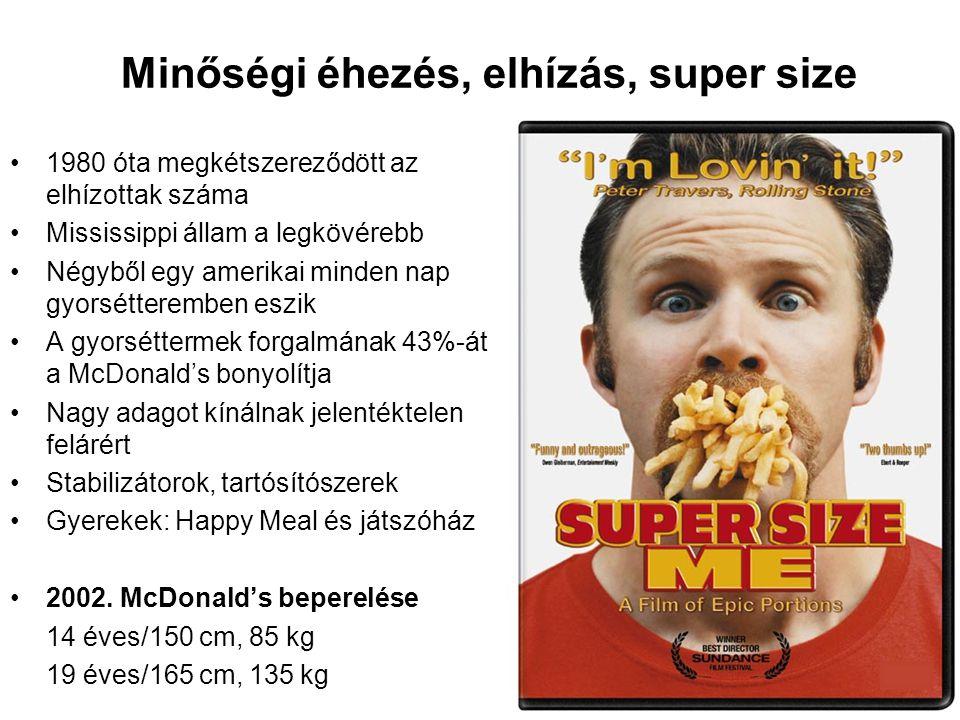 Minőségi éhezés, elhízás, super size