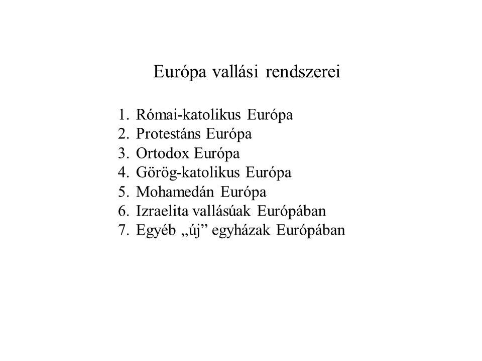 Európa vallási rendszerei