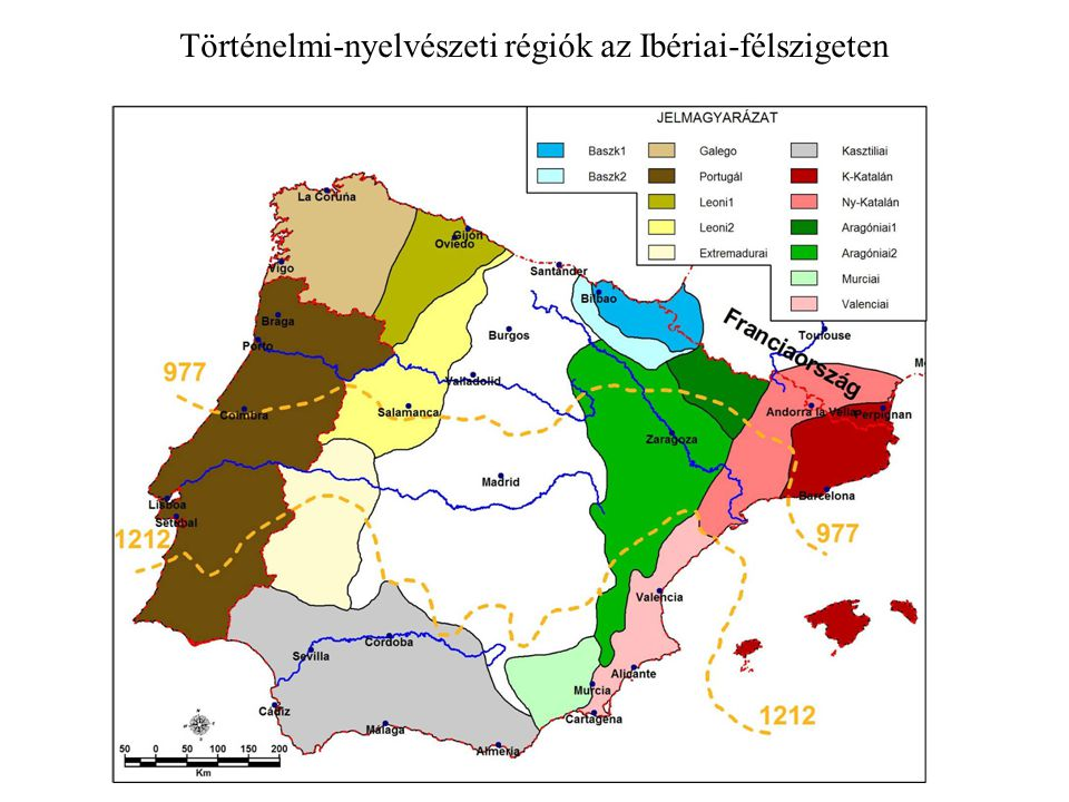 Történelmi-nyelvészeti régiók az Ibériai-félszigeten