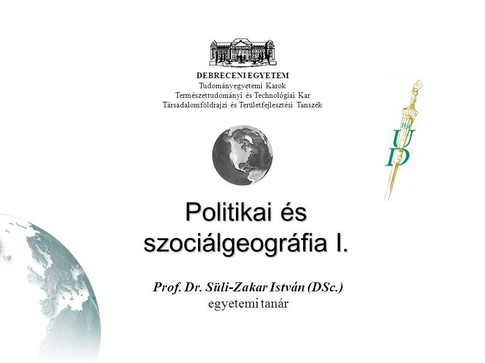 Politikai és szociálgeográfia I.