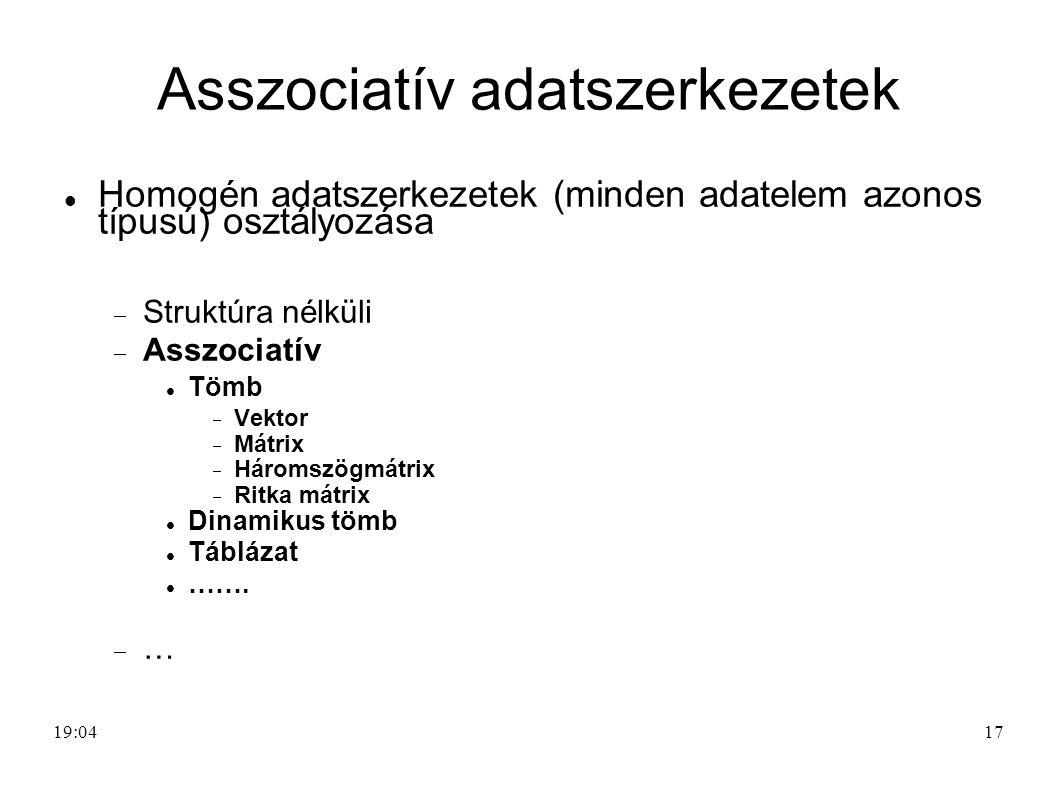 Asszociatív adatszerkezetek