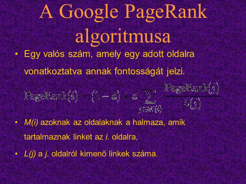 A Google PageRank algoritmusa