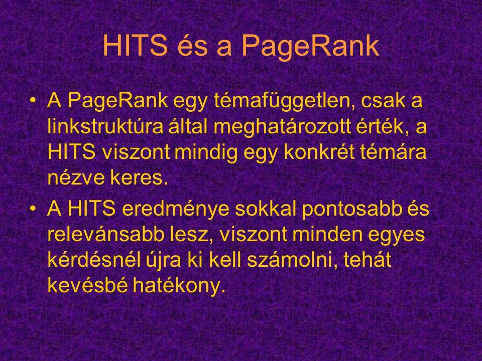 HITS és a PageRank