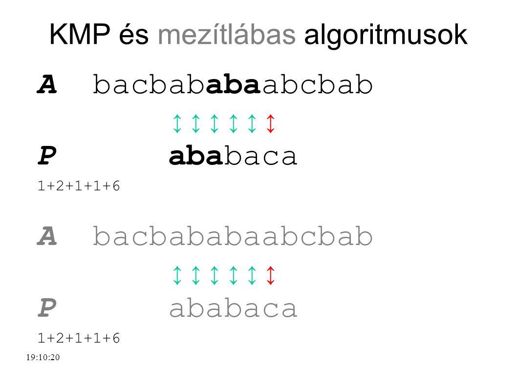 KMP és mezítlábas algoritmusok