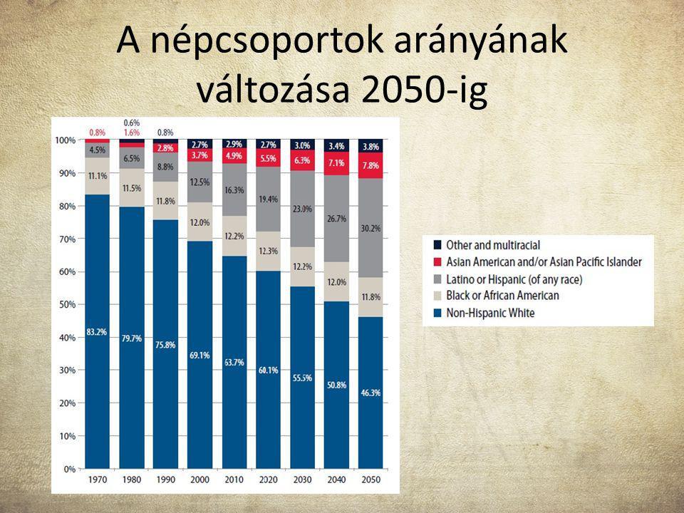 A népcsoportok arányának változása 2050-ig