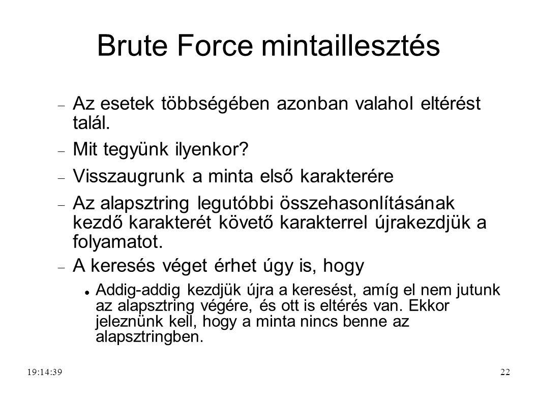 Brute Force mintaillesztés