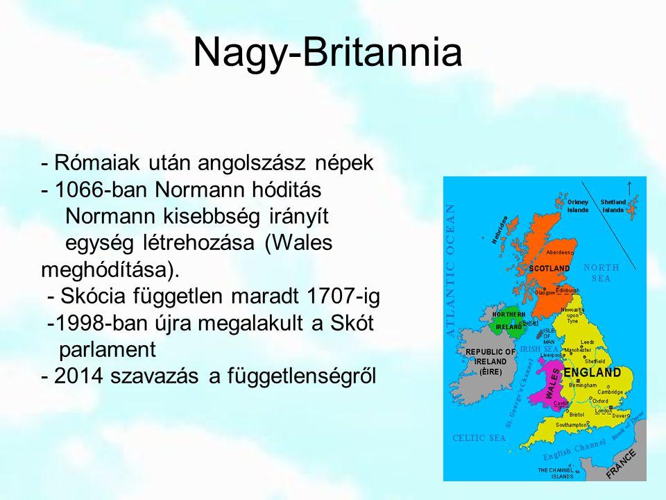 Nagy-Britannia - Rómaiak után angolszász népek