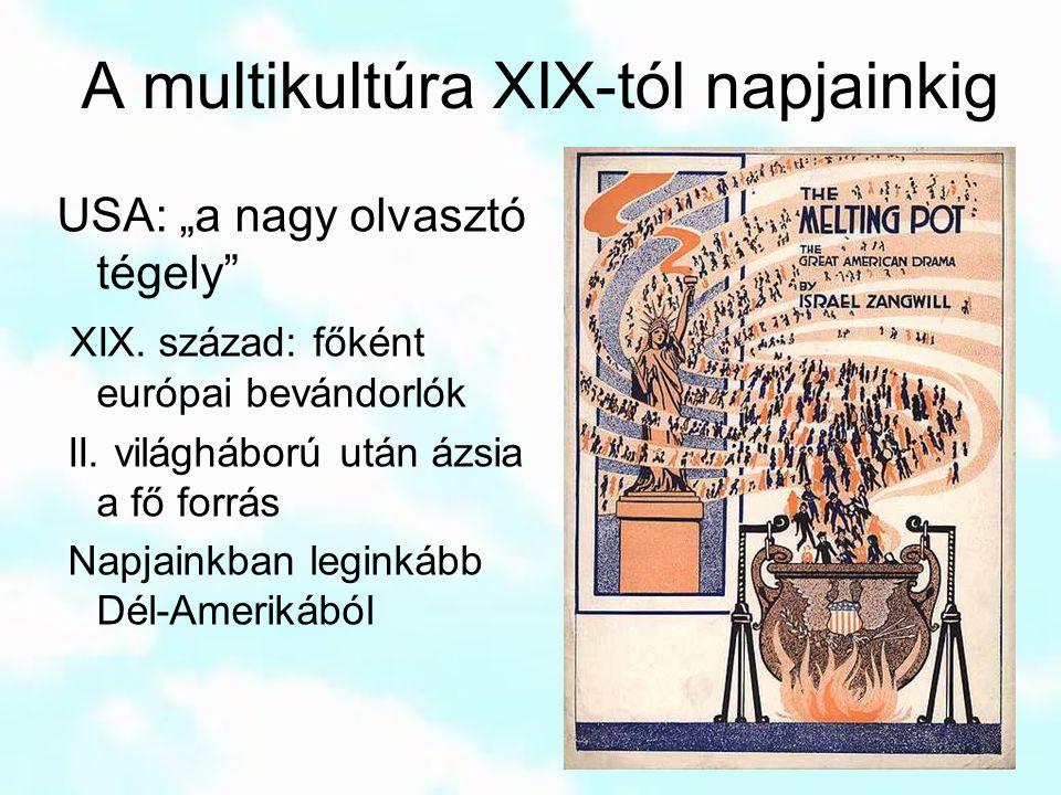 A multikultúra XIX-tól napjainkig