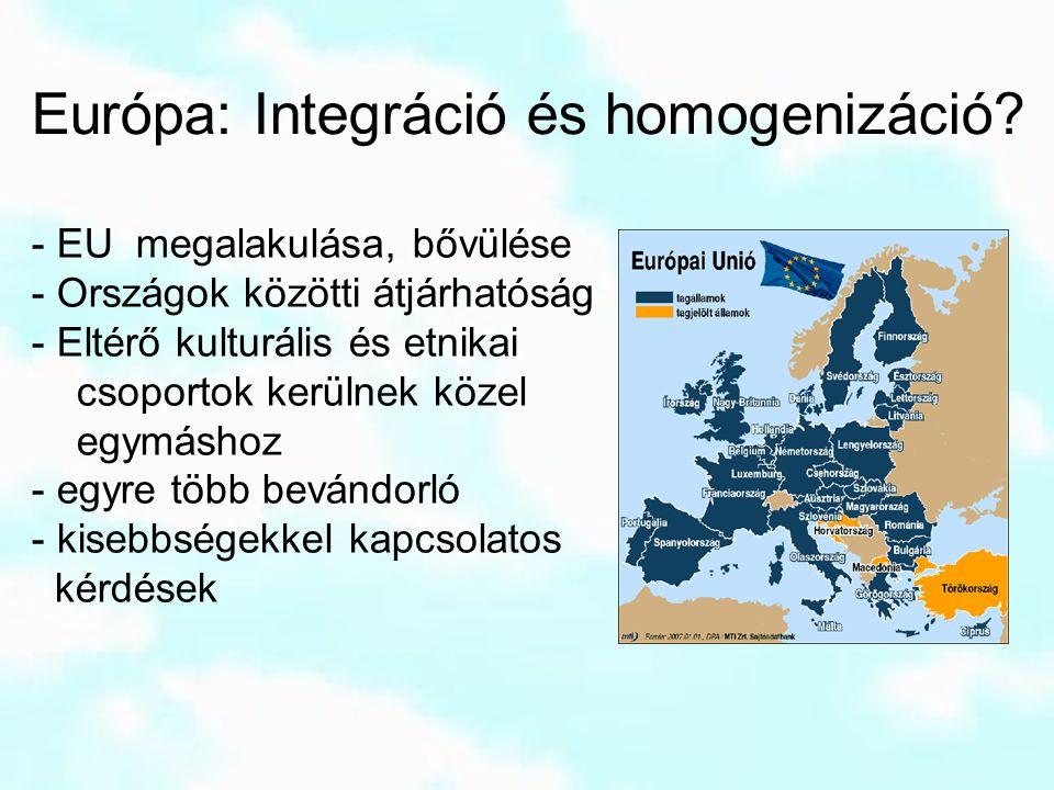 Európa: Integráció és homogenizáció