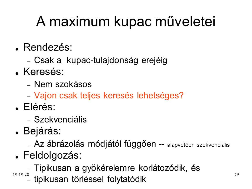 A maximum kupac műveletei