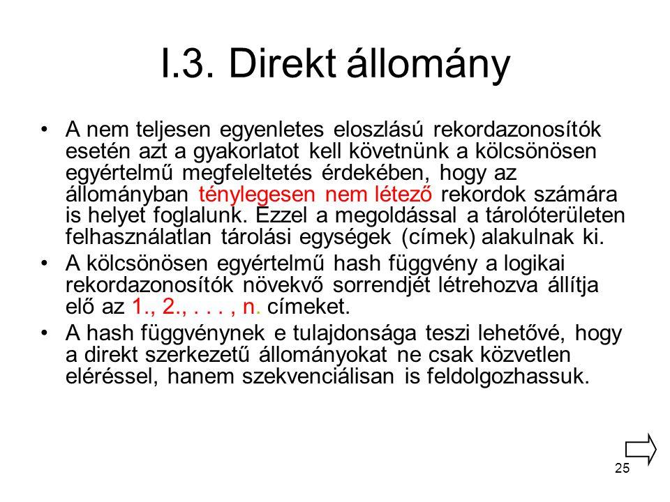 I.3. Direkt állomány