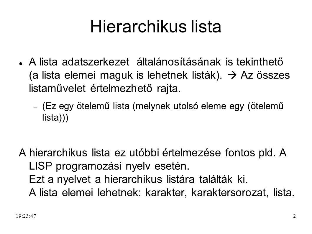 Hierarchikus lista