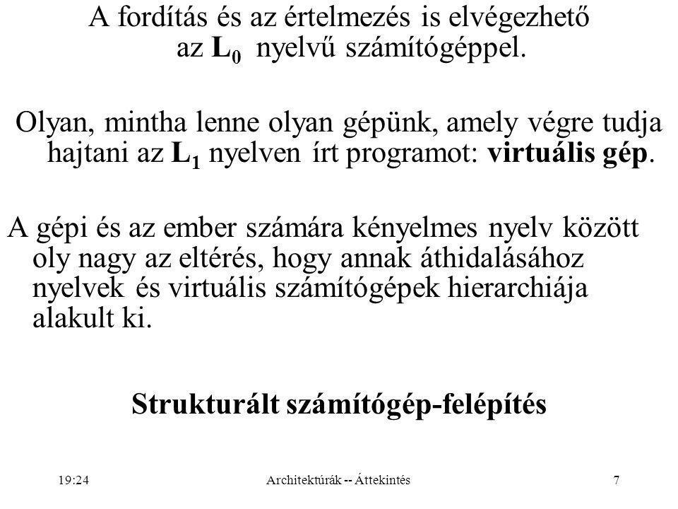 A fordítás és az értelmezés is elvégezhető az L0 nyelvű számítógéppel.
