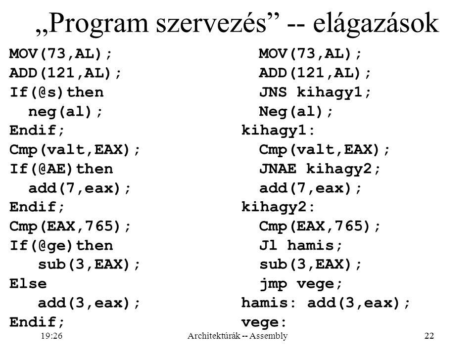 """""""Program szervezés -- elágazások"""