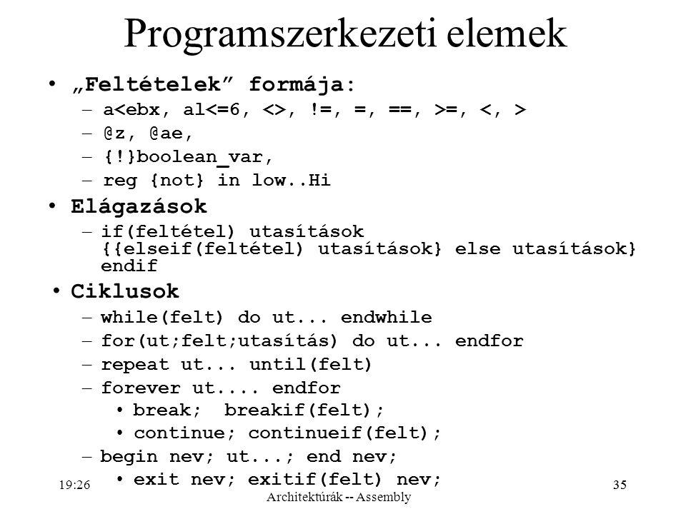 Programszerkezeti elemek