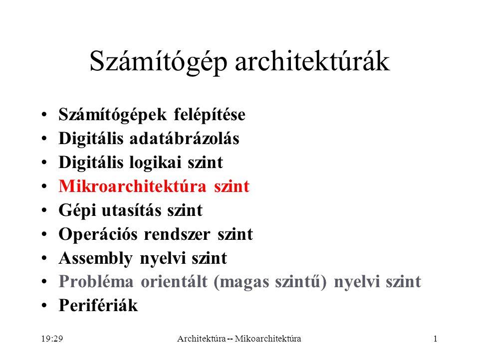 Számítógép architektúrák