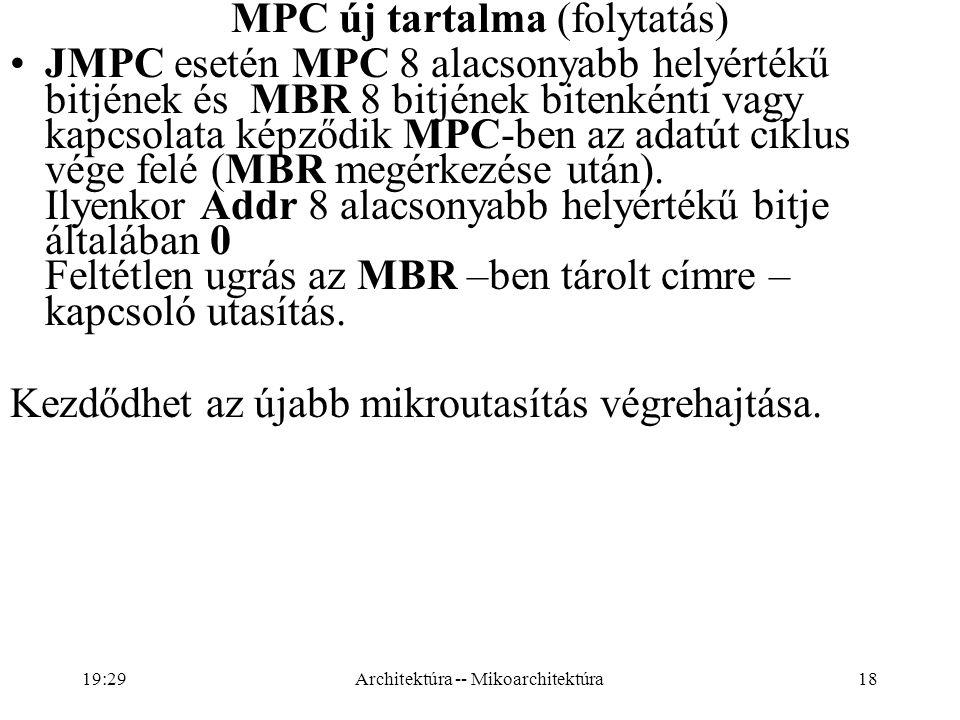 MPC új tartalma (folytatás)