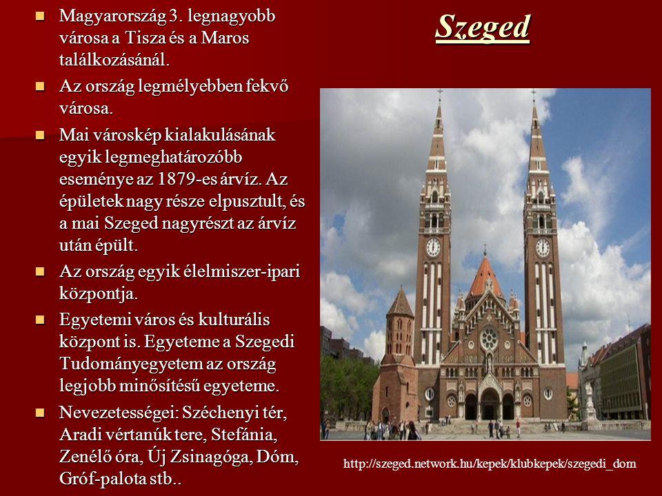 Magyarország 3. legnagyobb városa a Tisza és a Maros találkozásánál.