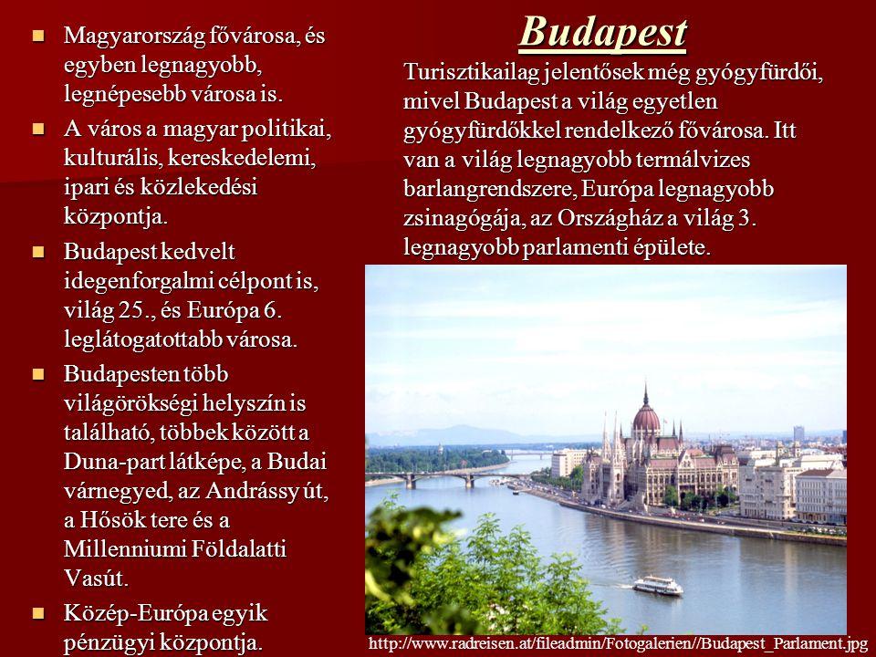 Budapest Magyarország fővárosa, és egyben legnagyobb, legnépesebb városa is.