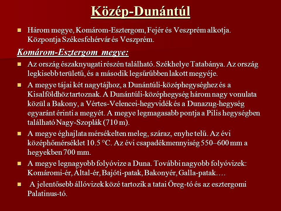 Közép-Dunántúl Komárom-Esztergom megye: