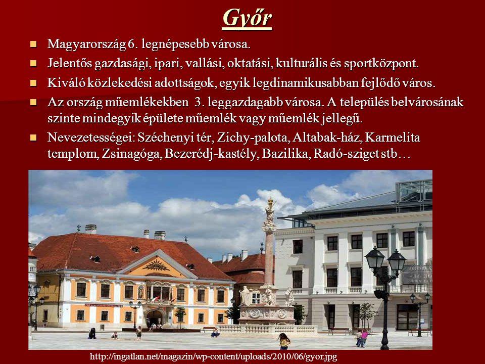 Győr Magyarország 6. legnépesebb városa.
